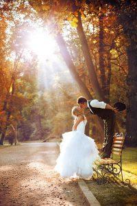 Mariage magique en Provence en automne